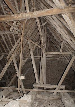 Charpente, église Saint-Georges, Vinneuf, Yonne, sauvegarde du patrimoine