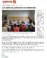 Vinneuf . Les Amis du Patrimoine, association de sauvegarde pour la restauration du clocher de l'église Saint-Georges de Vinneuf
