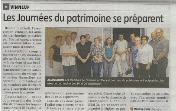 Les Journées du patrimoine se préparent, Yonne Républicaine, conférence sur trois oeuvres classées aux monuments historiques